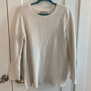 Ann Taylor LOFT white sweater